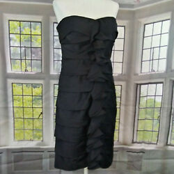 THE LIMITED Strapless Cocktail Black Dress Size 8 $14.89