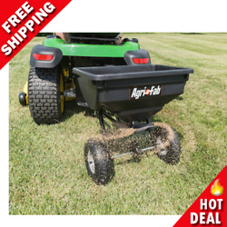85 Lb Behind Broadcast Spreader Tow Hopper Fertilizer Seed Atv Lawn Tractor Pull $91.08