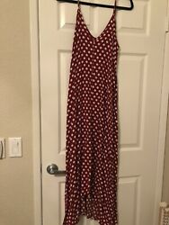 Ladies Red And White Polka Dot Maxi Size S New W tag $12.75