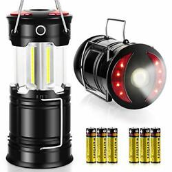 Camping Lantern 2 Pack with 8 Batteries High Lumens LED Lanterns Battery Powered $31.64