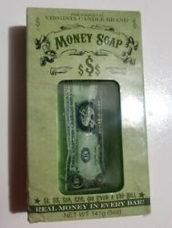 VIRGINIA CANDLE BRAND MONEY SOAP $1 $50 REAL MONEY IN EVERY BAR SOAP NEW IN BOX $19.99