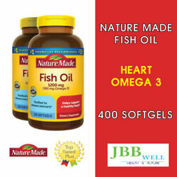 Nature Made Omega 3 Fish Oil 1200mg Softgels 400 Count 2 PK Exp. 03 24 $21.95