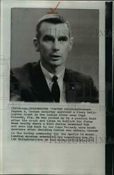 1971 Wire Photo Astronaut Eugene Cernan survives a helicopter accident $19.99