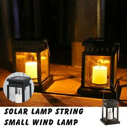 Solar Hanging Candle Lantern Outdoor Candle Effect Light for GardenPatio Home $15.29