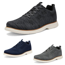 Mens Athletic Shoes Lace up Fashion Sneakers Knit Comfort Walking Shoes $16.60