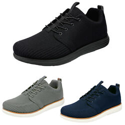 Mens Athletic Shoes Lace up Fashion Sneakers Knit Comfort Casual Shoes $16.60