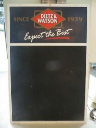 OLD DIETZ amp; WATSON SINCE 1939 EXPECT THE BEST MEAT MARKET DELI CHALKBOARD SIGN $175.00