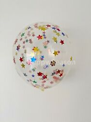 12quot; Star Confetti Latex balloons wedding birthday party decoration baby shower $6.99