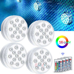 4x Waterproof Underwater Led Lights w Remote for Swimming Pool Fountain Hot tub $13.55
