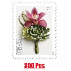 300 USPS New Contemporary Boutonniere 15 Panes of 20 Forever Stamps $47.58