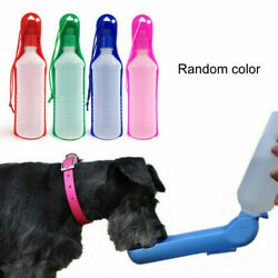 500ml PET TRAVEL WATER BOTTLE Portable Fordable Dog Cat Drink Feeding Bowl $9.36