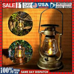 Solar Retro LED Candle Outdoor Oil Wall Lamp Rechargeable Lamp Nightlight Home $14.68