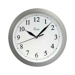 Wall Clock Quartz Battery Operated White 10 In. $10.99