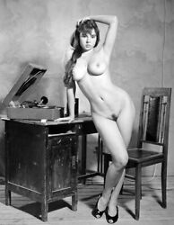 Vintage Photo 8.5x11 #17132 Busty Lovely Gal Posing $2.00