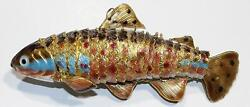 Gorgeous Articulated Enamel over Metal Fish Ornament Pendant Large 6.5quot; $49.99