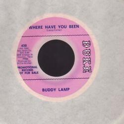 BUDDY LAMP on DUKE promo 45rpm: Where have you been $14.90