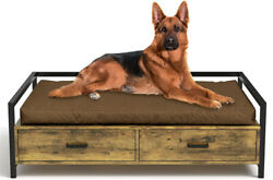 Elevated Pet Dog Beds Frame Dogs Cats Sofa Chair with Storage Drawer indoor $99.99