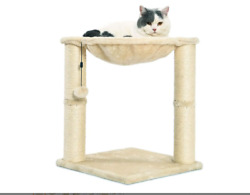 Basics Cat Condo Tree Tower with Hammock Bed and Scratching Post $33.27