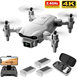 2021 4K Drone Camera Wide Angle Foldable Quadcopter WIFI With 3 Battery Mini FPV $38.65