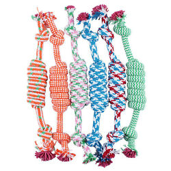 Pet Toys for dog funny Chew Knot Cotton Bone Rope Puppy Dog toy pet supplie HN C $3.83