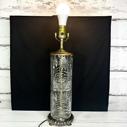 Leviton Crystal and Brass Lamp $75.00