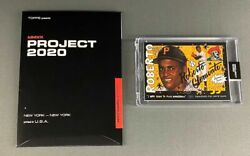Topps Project 2020 #110 Roberto Clemente by Sophia Chang Card w Box Pirates $11.99