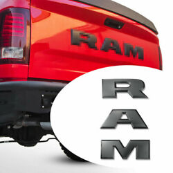 Matte black For 2014 amp; UP Ram 1500 2500 3500 Tailgate Letters Decal ABS Inserts $36.99