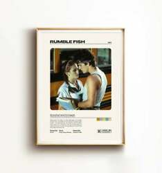 Rumble Fish Movie Poster Poster Print 24x36 Inches Poster Wall Art Home Decor $19.95