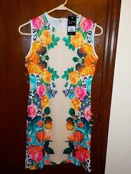 Women#x27;s Just Love Dress New w Tags Floral Size Medium Knee Length $11.49