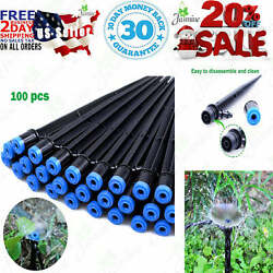 Mixc 100Pcs Drip Emitters Fan Shape With Stake Water Flow Adjustable For 1 4 $31.95