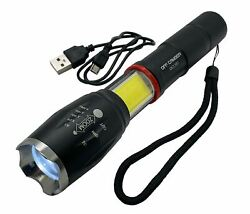 CAMP PRO Off Camber Lighting LED Flashlight Rechargeable USB COB $49.95