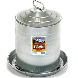 Miller Manufacturing 5 Gallon Double Wall Metal Poultry Fount Automatic Waterer $44.99