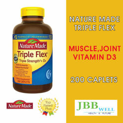 Nature Made TripleFlex Triple Strength D3 Dietary 200 Tablets Exp.06 23 $32.99