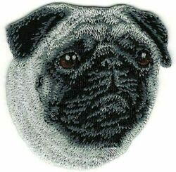 Pug Dog Breed Portrait Embroidered Patch $3.50