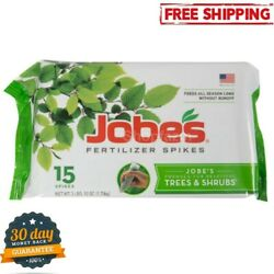 Jobe#x27;s Fertilizer Spikes for Trees Shrubs Time Release Nourish at Roots15 Count $14.34
