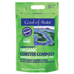 Coast of Maine OMRI Listed Quoddy Blend Lobster Compost Soil 8qt 10 Pack $143.99