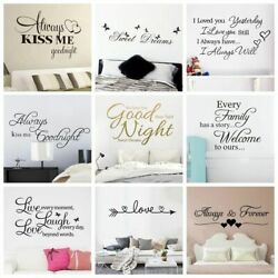Quotes Good Night Sweet Dreams Wall Stickers Personalized For Living Room Decor $4.79