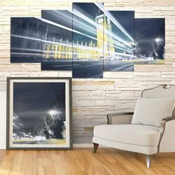 Modern 5 Panel Canvas Home Art Painting Picture Wall Decor Print Framed Big Ben $18.90