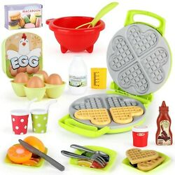 LiDi RC 27 Pack Waffle Play Food Toys for Toddlers Kitchen Sets for KidsNew... $29.24