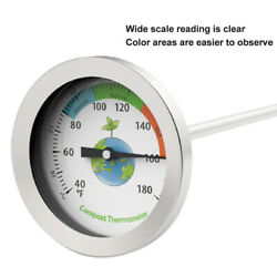Dial Display Stainless Steel Compost Thermometer Portable Garden Soil Ground $29.15