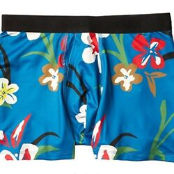 Stance Boys The Boxer Brief Poly Blend Large 23 24 in Blue Floral $13.99
