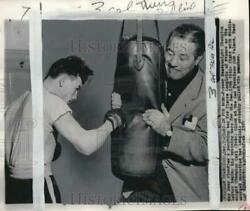 1954 Press Photo Middleweight boxer Pierre Langlois amp; ex champion Max Baer CA $19.99