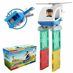 Flying Helicopter Toy Police Set with Magnets – F Magnetic Helicopter $25.16