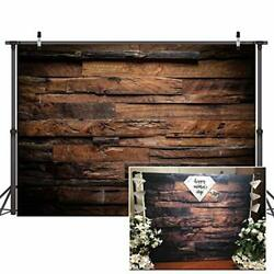 Brown Wood Backdrop for Photography Customized Vintage Background for 7x5ft $22.09