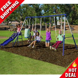 Swing Set Kids Playground Outdoor Playset Quality Comfort Heavy Duty Steel Tubes $234.72