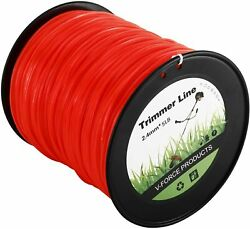 5LBS 0.095quot; Red Commercial String Trimmer Line Fits Square Shaped Nylon for Weed
