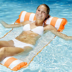Inflatable Floating Hammock Lounge Bed Beach Swimming Pool Raft Water Chair $8.79