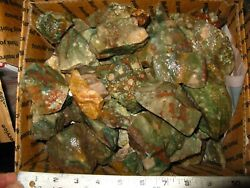 BOX OF IMPERIAL JASPER ROUGH FOR TUMBLING 19POUNDS $49.99