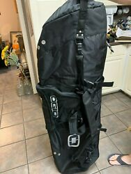OGIO quot;The Straight Jacketquot; Golf Travel Cover Roller Zip Up Bag Black Brand New $130.00