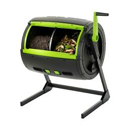 Two Stage Tumbling Composter 65 Gal Black Green Large Air Vents Rodent Resistant $460.75